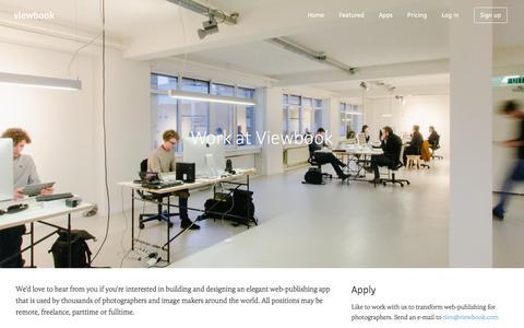 Screenshot of Jobs Page viewbook.com - Viewbook - Jobs - captured Jan. 25, 2016