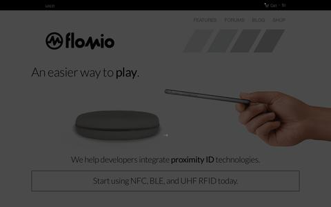 Screenshot of Home Page flomio.com - Flomio - Proximity ID Solutions - captured Dec. 4, 2015