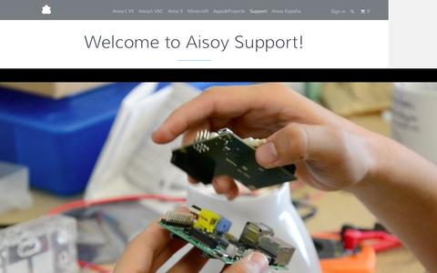 Screenshot of Support Page aisoy.com - Welcome to Aisoy Support! - Aisoy Robotics - captured Feb. 5, 2016