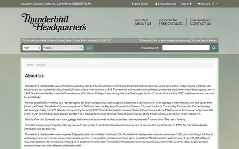 Screenshot of About Page tbirdhq.com - Thunderbird Headquarters, Inc. - captured June 14, 2016