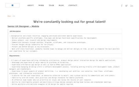 Screenshot of Jobs Page fabriqate.com - Jobs | FabriQate - captured Oct. 28, 2014