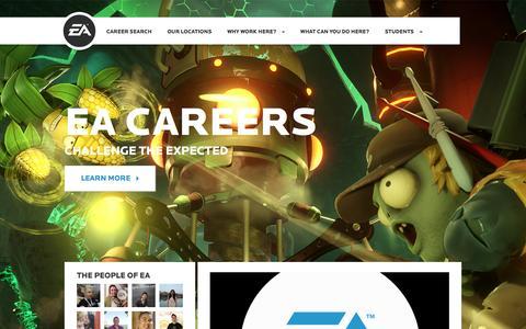 Screenshot of Jobs Page ea.com - Home | EA Careers - captured Dec. 5, 2015