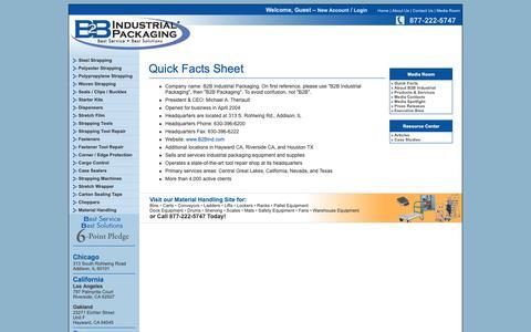 Screenshot of Press Page ctnetworks.net - B2B Industrial Packaging - - captured Nov. 4, 2018