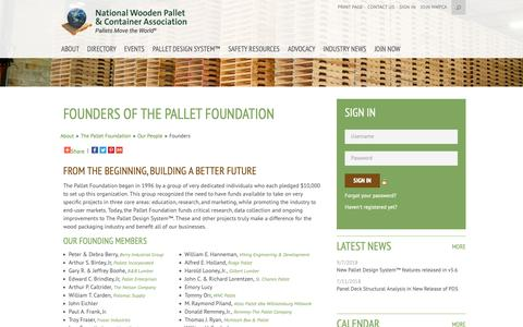 Screenshot of Team Page palletcentral.com - Founders of The Pallet Foundation - National Wooden Pallet and Container Association - captured Nov. 16, 2018