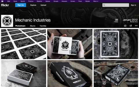 Screenshot of Flickr Page flickr.com - Flickr: Mechanic Industries' Photostream - captured Oct. 27, 2014
