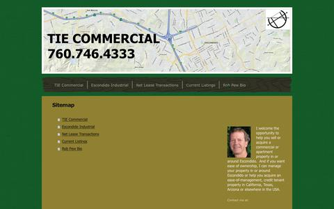 Screenshot of Site Map Page tiecommercial.com - TIE Commercial - TIE Commercial - captured June 19, 2017