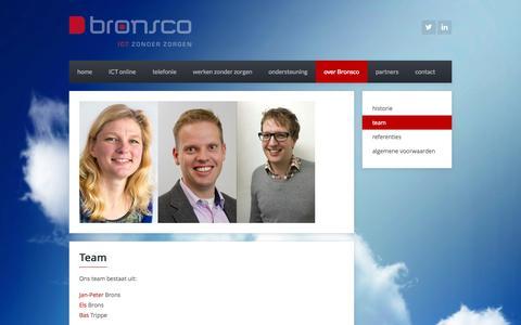 Screenshot of Team Page bronsco.nl - Bronsco ICT | team - captured Oct. 5, 2014