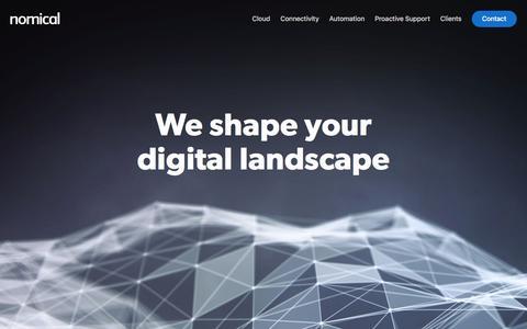 Screenshot of Home Page nomical.com - Nomical - captured Nov. 14, 2017