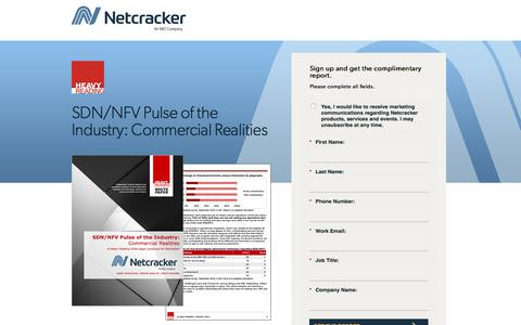 Screenshot of Landing Page netcracker.com - SDN/NFV Pulse of the Industry: Commercial Realities - captured Oct. 5, 2019