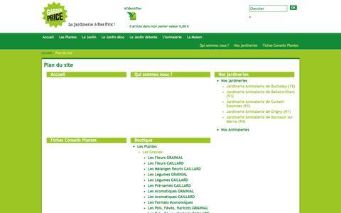 Screenshot of Site Map Page gardenprice.com - Jardinerie Animalerie Discount Garden Price - Plan du site - captured Dec. 3, 2015