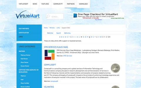 Screenshot of Support Page virtuemart.net - Support Sites - captured Oct. 29, 2014