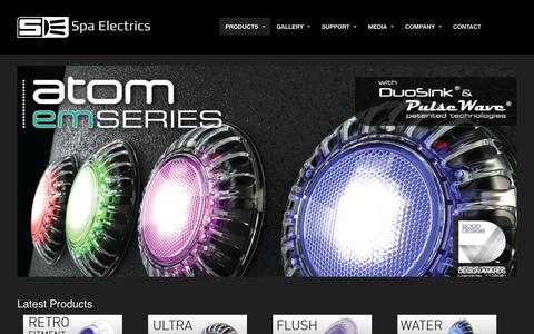 Screenshot of Products Page spaelectrics.com.au - Spa Electrcs Product Range - captured Oct. 7, 2014