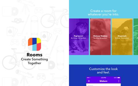 Screenshot of Home Page rooms.me - Rooms - Create Something Together - captured Dec. 13, 2014