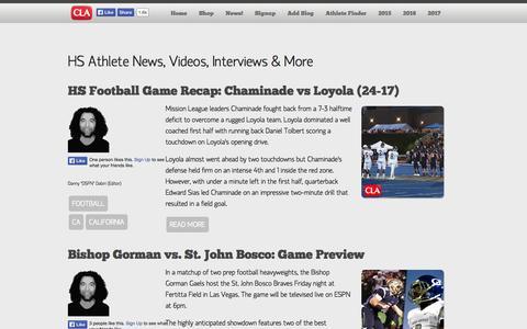 Screenshot of Blog Press Page collegelevelathletes.com - Student-Athlete News, Interviews, Highlight Videos & More! | CollegeLevelAthletes.com | High School Student-Athlete Videos, College Sports News. #D1Bound Nation - captured Oct. 22, 2014