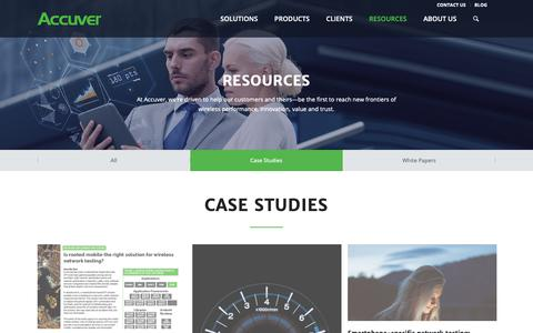 Screenshot of Case Studies Page accuver.com - Case Studies - ACCUVER - captured Oct. 2, 2018