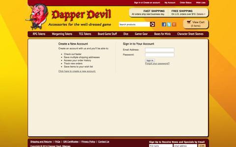 Screenshot of Login Page dapperdevil.com - Dapper Devil - Sign in - captured Sept. 30, 2014