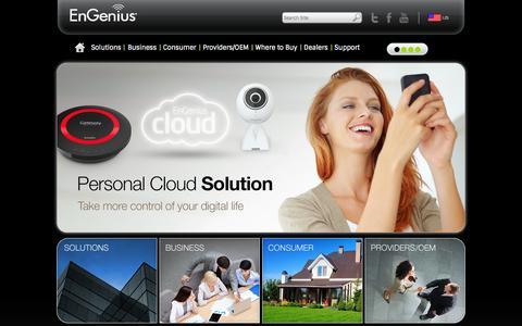 Screenshot of Home Page Case Studies Page engeniustech.com - EnGenius Tech, Inc. - captured Sept. 25, 2014