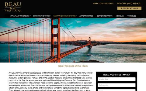 San Francisco Wine Tours, SF to Napa Wine Tour - Beau Wine Tours