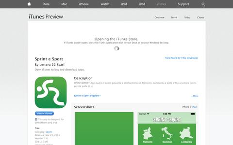 Screenshot of iOS App Page apple.com - Sprint e Sport on the App Store on iTunes - captured Oct. 26, 2014