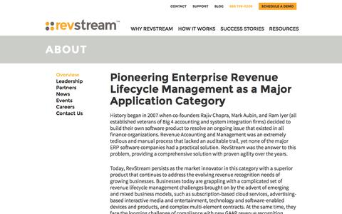 Screenshot of About Page revstreamone.com - Overview - RevstreamOne.com - RevStream - captured Dec. 2, 2016
