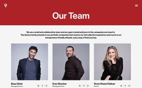 Screenshot of Team Page qumracapital.com - Team | Qumra Capital - captured July 24, 2018