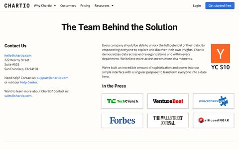 Screenshot of About Page chartio.com - About Us - learn how we enable you to become a Data Hero - captured Jan. 9, 2020