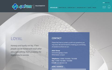 Screenshot of Contact Page axtor.net - Contact | - captured Feb. 5, 2016