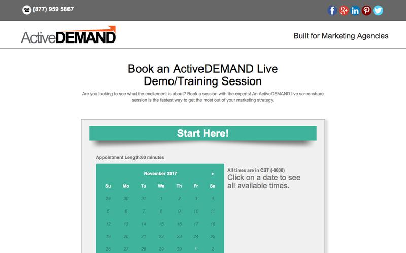Schedule an ActiveDEMAND Demonstration