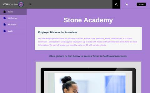 Screenshot of Home Page stoneacademyoftexas.com - Stone Academy - Stone Academy - captured Oct. 21, 2018