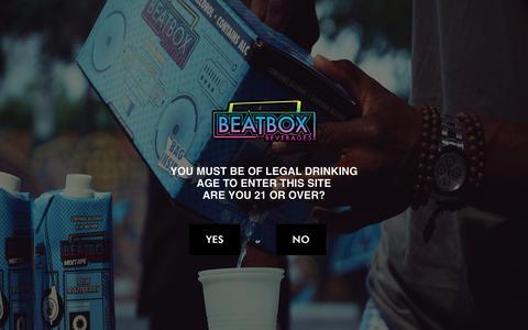 Screenshot of FAQ Page beatboxbeverages.com - BeatBox Beverages - FAQs - captured Oct. 10, 2017