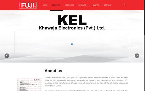 Screenshot of About Page fujicap.com - About us – Fuji Capacitors - captured Oct. 14, 2018