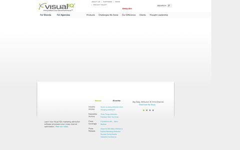 Screenshot of Home Page visualiq.com - Visual IQ - Marketing Attribution and Optimization - captured Oct. 11, 2014