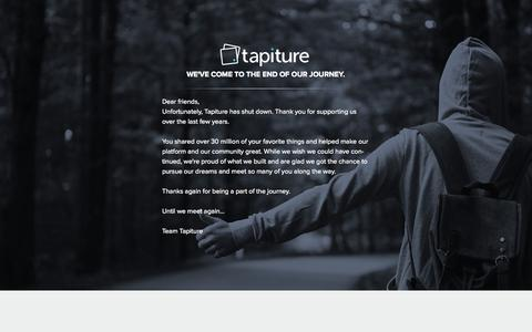 Screenshot of About Page tapiture.com captured Oct. 14, 2015