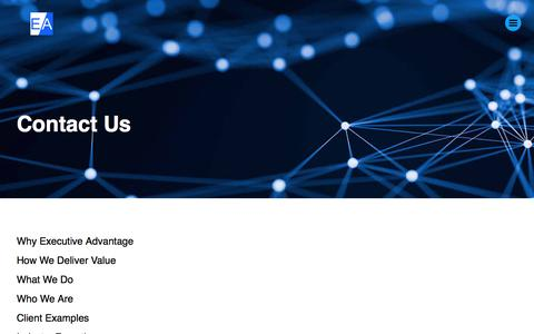 Screenshot of Contact Page executive-advantage.com - Contact Us - captured Sept. 19, 2017