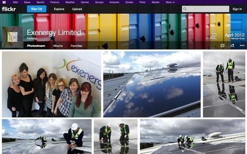 Screenshot of Flickr Page flickr.com - Flickr: Exenergy's Photostream - captured Oct. 22, 2014