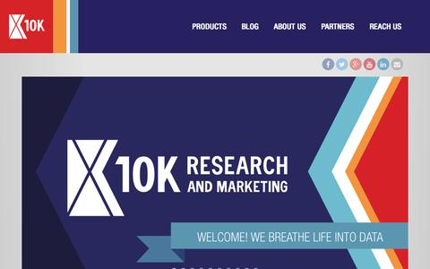 Screenshot of Home Page 10kresearch.com - 10K Research and Marketing | - captured June 18, 2015