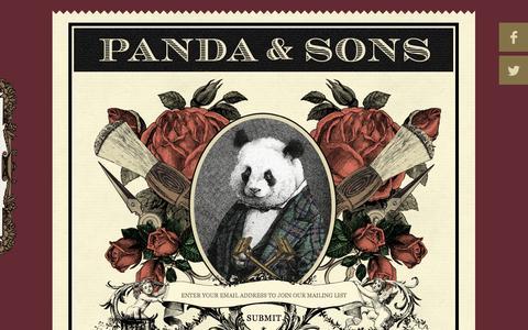 Screenshot of Home Page pandaandsons.com - Panda and Sons - captured Oct. 1, 2014