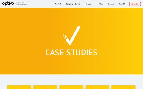 Screenshot of Case Studies Page optivo.de - Case Studies - optivo - captured Oct. 30, 2014