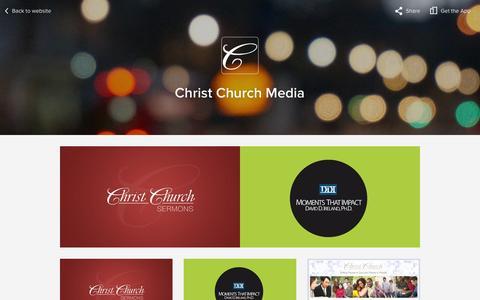 Screenshot of Press Page christchurchusa.org captured Jan. 27, 2016
