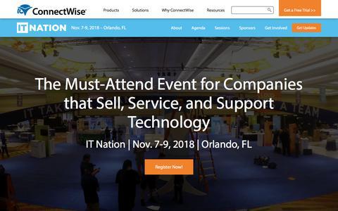 IT Nation 2018  |  Nov 7-9, 2018 | Orlando, FL
