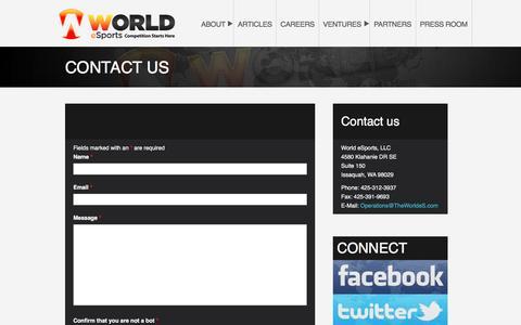 CONTACT US – World eSports, LLC