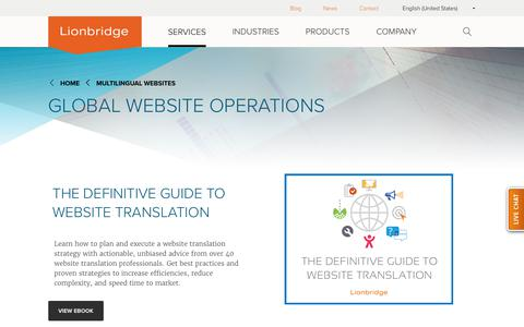 Global Website Operations | Multilingual Websites