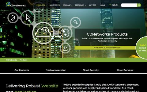 Screenshot of Products Page cdnetworks.com - Global Cloud Acceleration | CDNetworks - captured Oct. 1, 2015