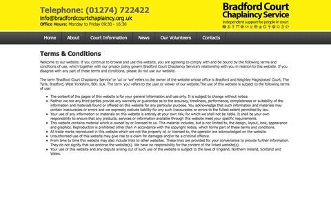 Screenshot of Terms Page bradfordcourtchaplaincy.org.uk - Bradford Court Chaplaincy Service - captured Oct. 5, 2014