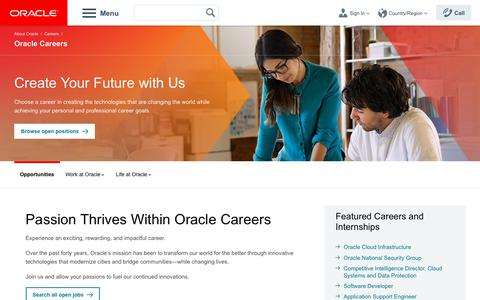 Screenshot of Jobs Page oracle.com - Oracle Careers | Job Search | Oracle - captured Sept. 21, 2018