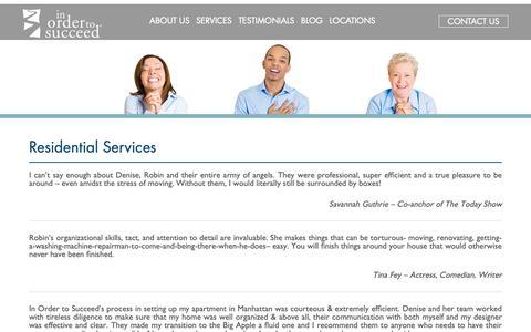 Screenshot of Testimonials Page inordertosucceed.com - Residential Moving Concierge & Organization Services | Testimonials - captured Nov. 6, 2018
