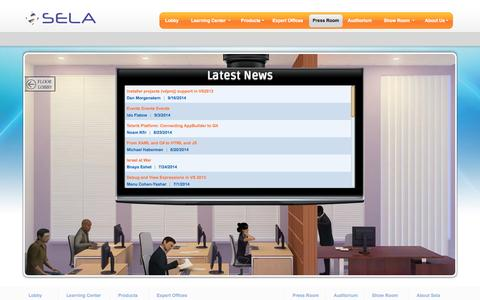Screenshot of Press Page selagroup.com - Press Room - captured Oct. 3, 2014