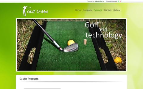 Screenshot of Products Page golfgmat.com - Products G-Mat - captured Sept. 27, 2014