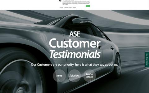 Screenshot of Testimonials Page ase-global.com - Testimonials - ASE Global - Manchester, United Kingdom - ASE Global - captured Oct. 2, 2018