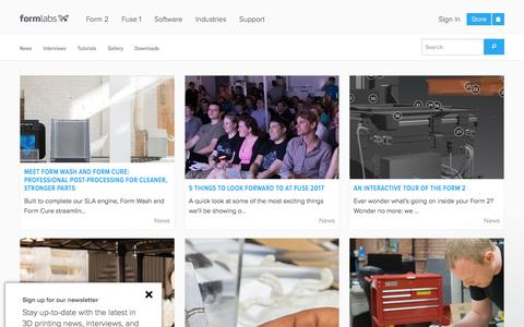 Screenshot of Blog formlabs.com - Formlabs says... - captured May 9, 2017